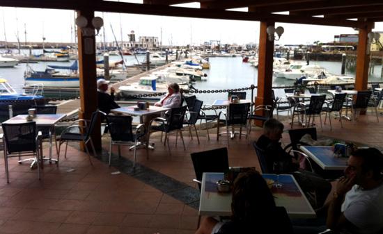 Terraza de Café del Mar, Playa Blanca, Lanzarote