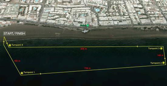 Prueba de natación del Ironman Lanzarote