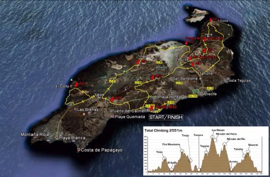 Prueba en bicicleta del Ironman Lanzarote