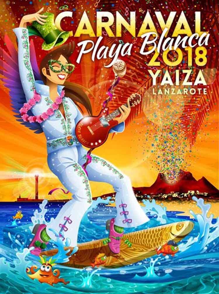 cartel carnaval playa blanca 2018