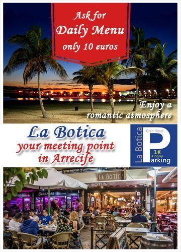 daily menu la botica arrecife