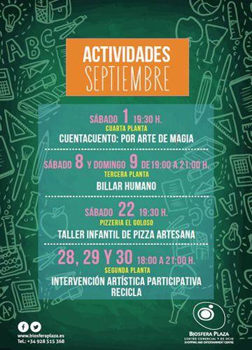 eventos biosfera plaza septiembre