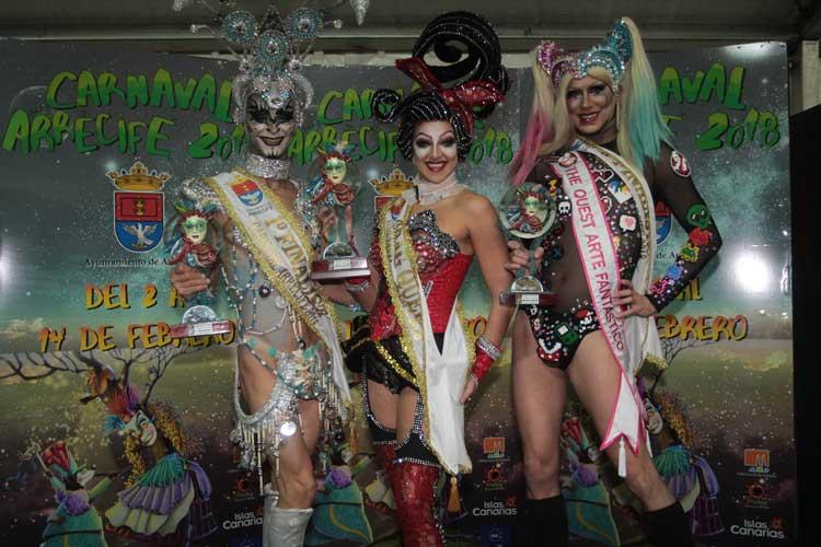 ganadora noa y primera y seguna gala drag queen carnaval arrecife 2018_1