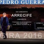Concierto de Pedro Guerra en Arrecife (Viernes, 21 de octubre)