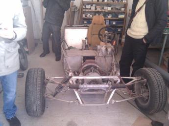 Visita a Kico y su coche eléctrico casero