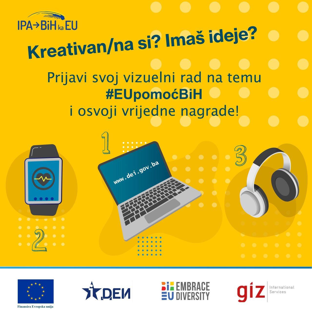 """You are currently viewing Javni poziv za dostavljanje vizuelnih radova na temu """"EU pomoć BiH"""""""