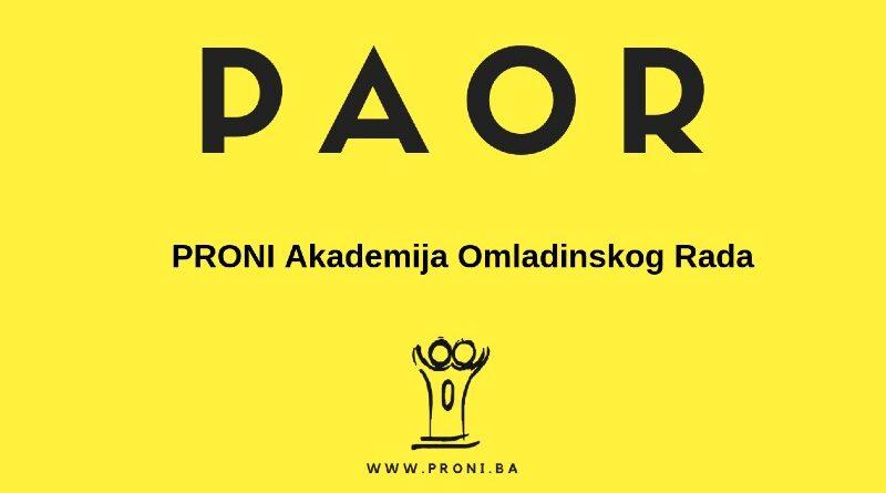 Read more about the article POZIV ZA UČESNIKE/CE: PRONI Akademija Omladinskog Rada 2021
