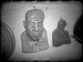 George Clooney on wood - Treasures of Antonio Palmerio workshop | photo: ©ockstyle