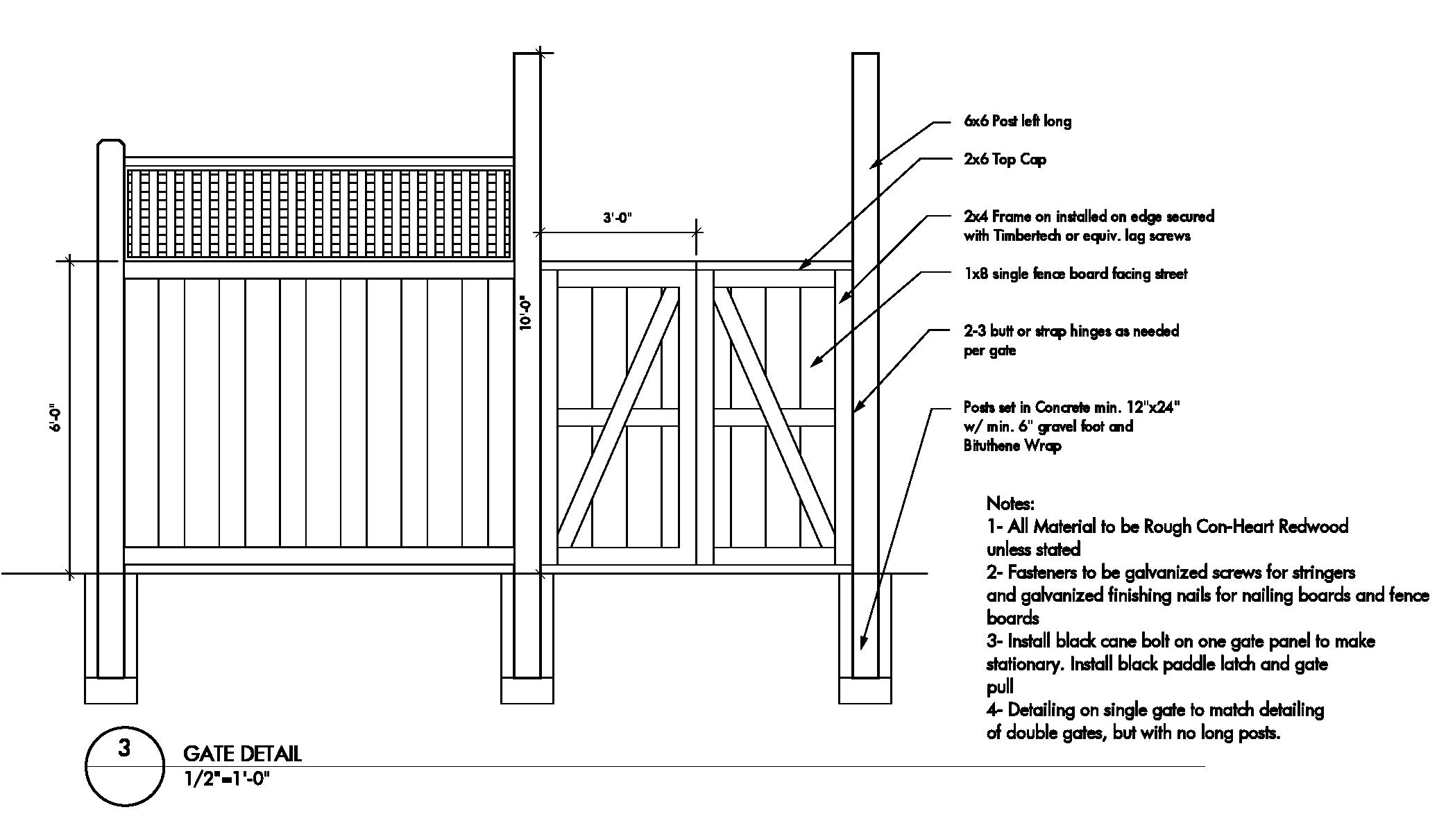 Wood Fence Gate Construction Details Plans Diy Free