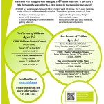 Parent Education and Toddler Behavior Classes