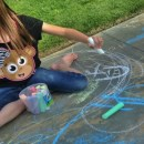 Chalk Body Tracing Fun