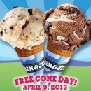 April 9th: 34th Annual Ben & Jerry's Free Cone Day