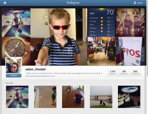 Screen shot from Instagram's web interface. Notice I'm not logged in.