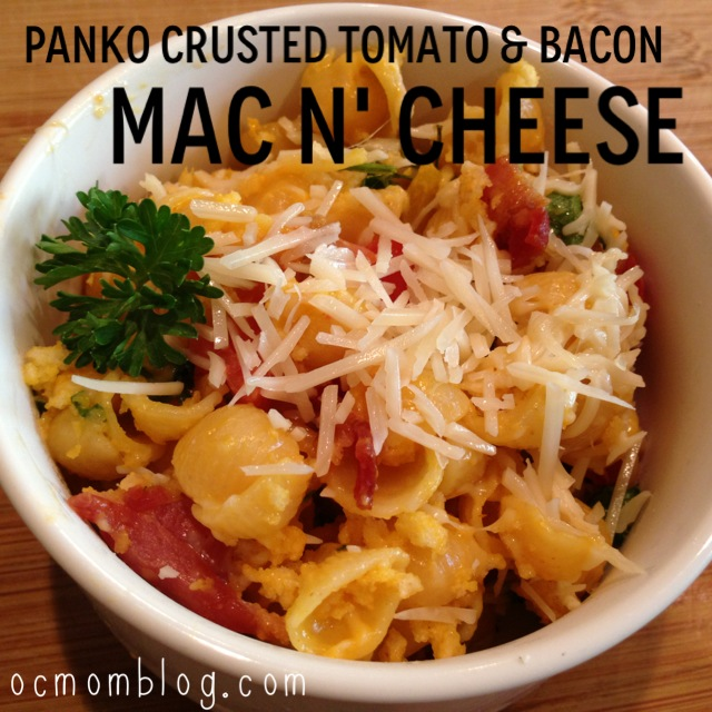Panko Crusted Bacon and Tomato Macaroni and Cheese Recipe