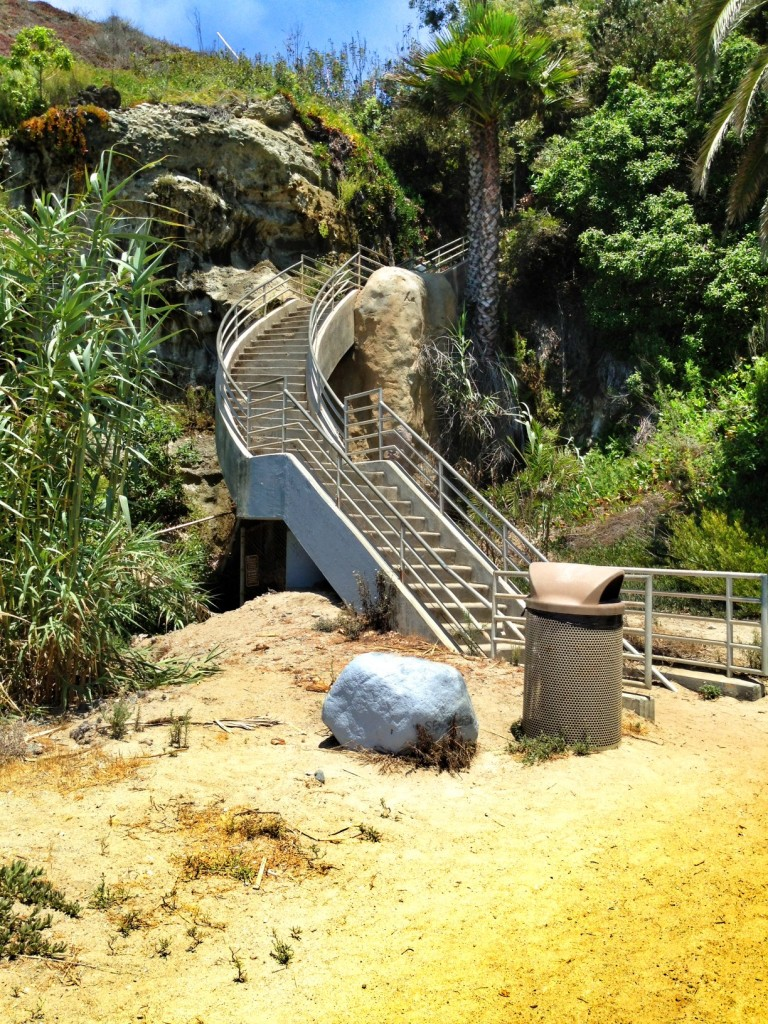 Staircase down to Tablerock Beach