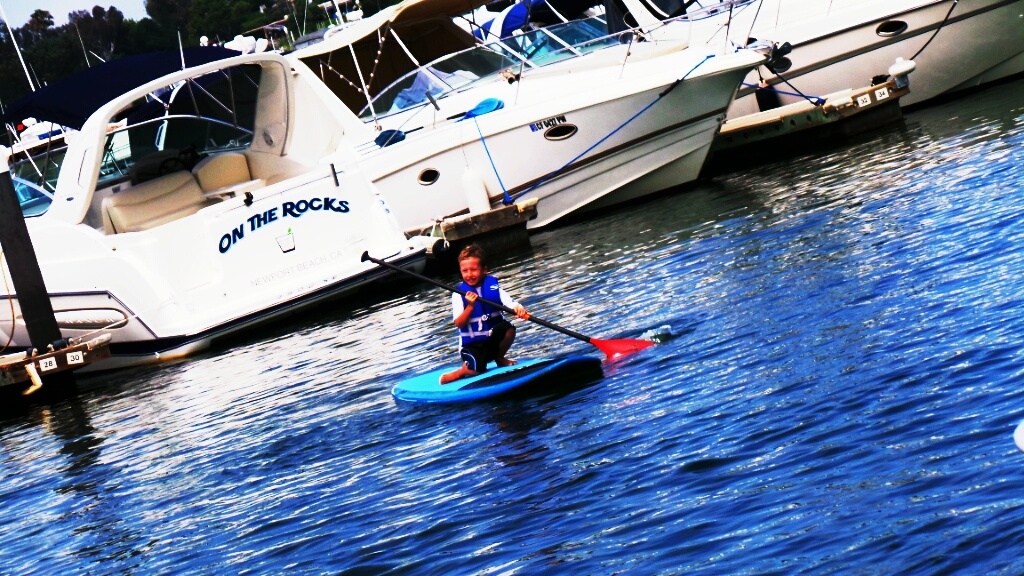 Calvin Paddle Boarding with Pirate Coast Paddle