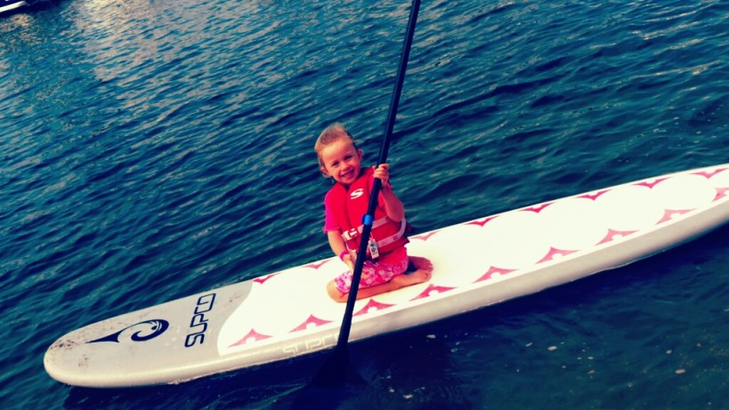 Ava Paddle Boarding with Pirate Coast Paddle