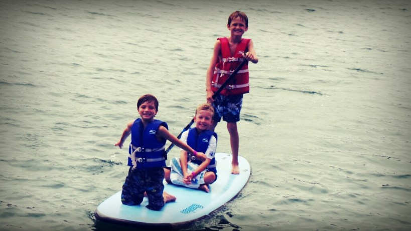 OC Mom Blog Kids Paddle Boarding with Pirate Coast Paddle