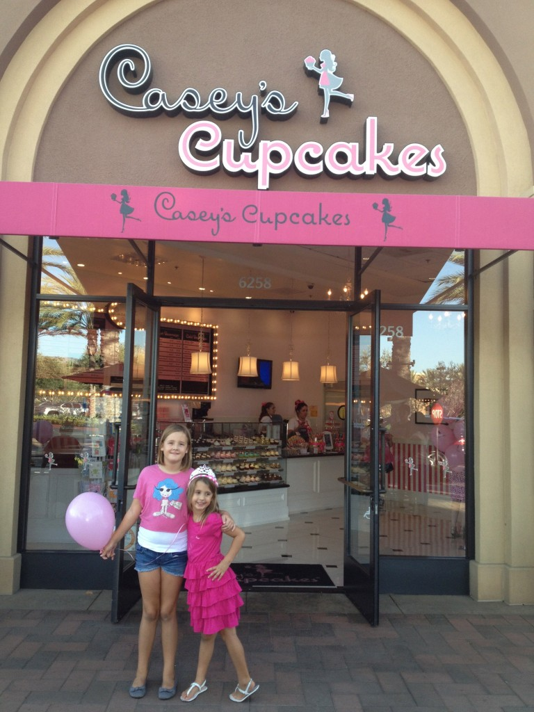 My daughters excited for their royal treatment at Casey's Cupcakes.