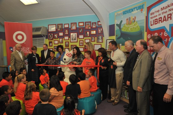 Target Presents Monroe Elementary School with a Newly Renovated Library