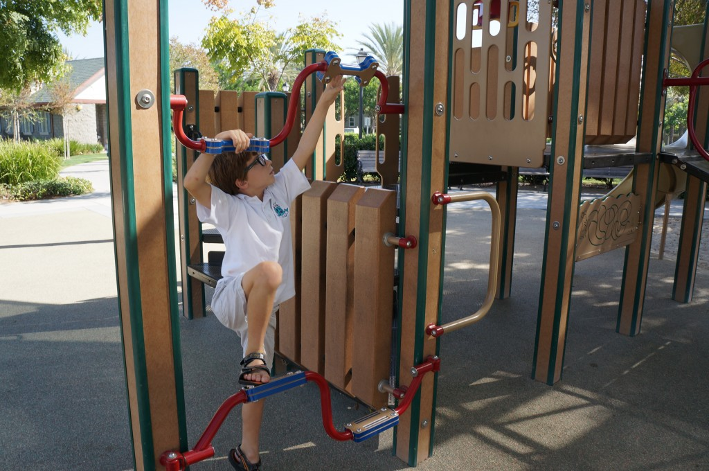 Climbing at a Ladera Ranch Park