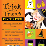 Trick-or-Treat Pumpkin Party at Kaleidoscope Center