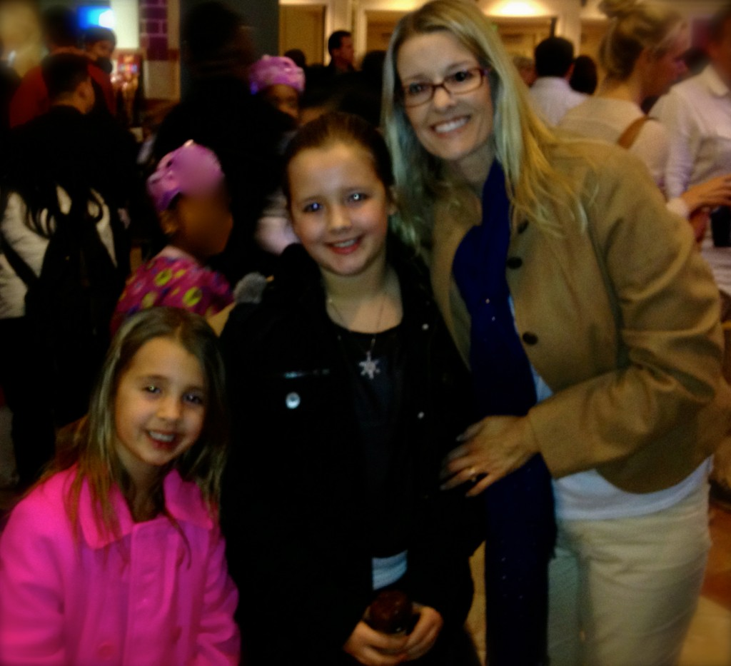 My girls and I taking a quick photo during the Disney On Ice intermission.