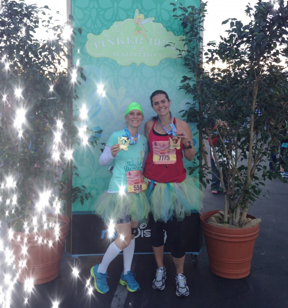 Tinkerbell Half Marathon Finishers - we got our bling on!