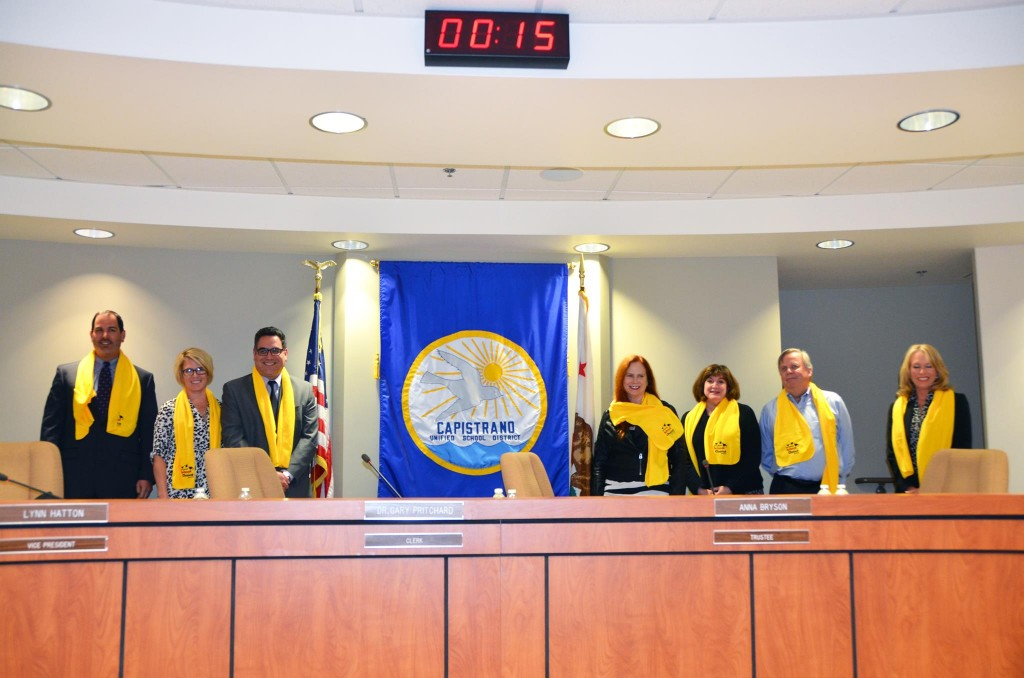Capistrano Unified School District Board of Directors Photo courtesy of photosbynaz.com