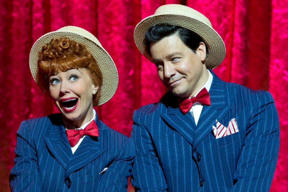Sirena Irwin as Lucy and Bill Mendieta as Ricky in I LOVE LUCY® LIVE ON STAGE (Photo by Jeremy Daniel)