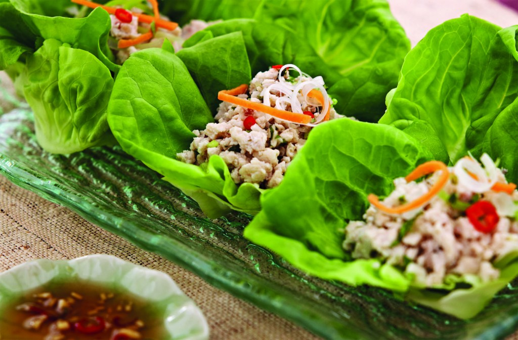 Chiang Mai Chicken in Lettuce Cups