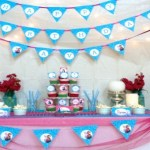 Frozen Birthday Party Movie Night and Mock Sleepover Party