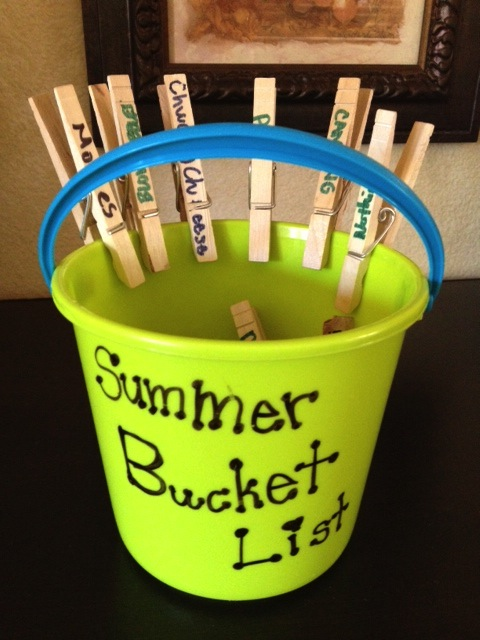 Our summer bucket list from last season. Time to get started with a new one!
