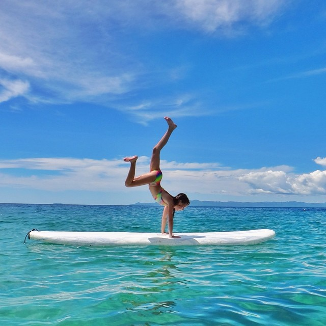 Ella doing SUP in Mexico