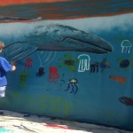 Painting with Wyland at The Aquarium of the Pacific
