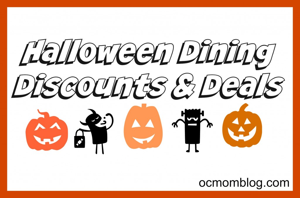 halloween dining discounts deals