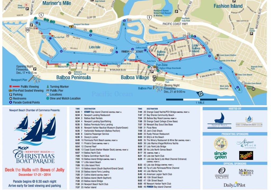 Boat Parade Route