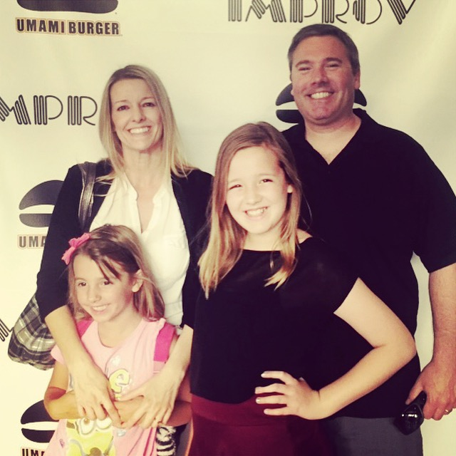 My family getting ready for some laughs at the Irvine Improv!
