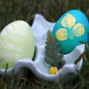 DIY Leaf and Flower Print Easter Eggs