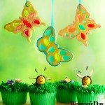 Stained Glass Butterfly Cookies