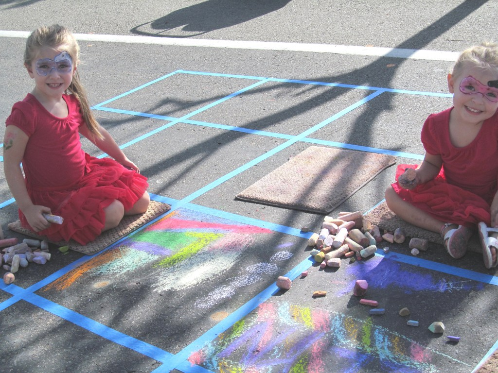 ArtSplash Children Create Chalk Squares