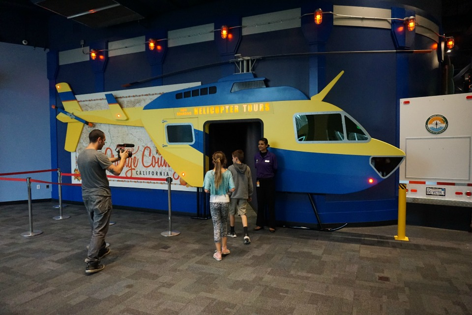 Helicopter tours at Discovery Cube OC #DiscoveryCubeMoms #DiscoveryCubeOC