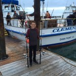 Father and Son Sportfishing at Dana Wharf
