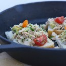 Heirloom tomato, Avocado and Gruyere Gourmet Tuna Melts