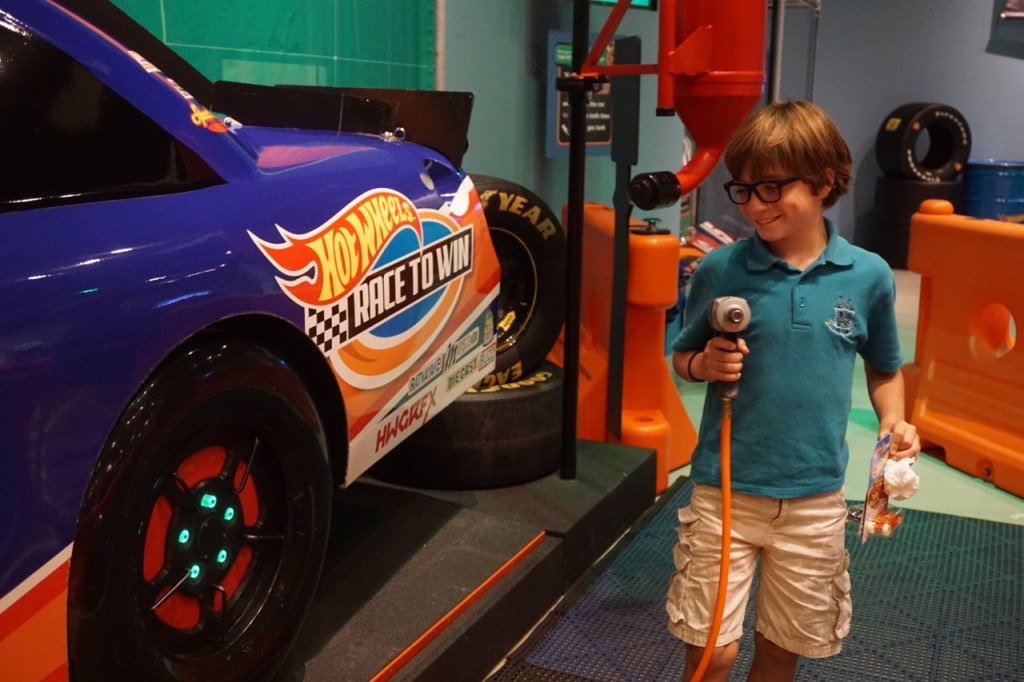 Kids Learning about Racing at Discovery Cube OC