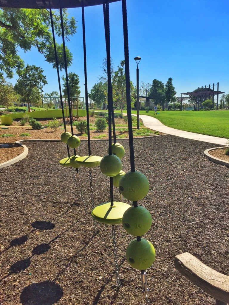Tennis ball climbers at Tree House Park in Orange County