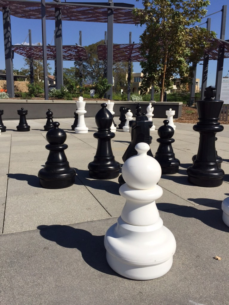 Giant chess game at beacon park in irvine