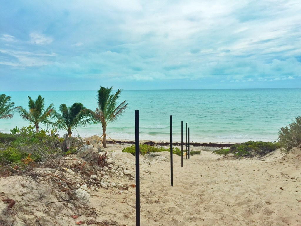 Beach access to Long Bay Beach in the Turks and Caicos