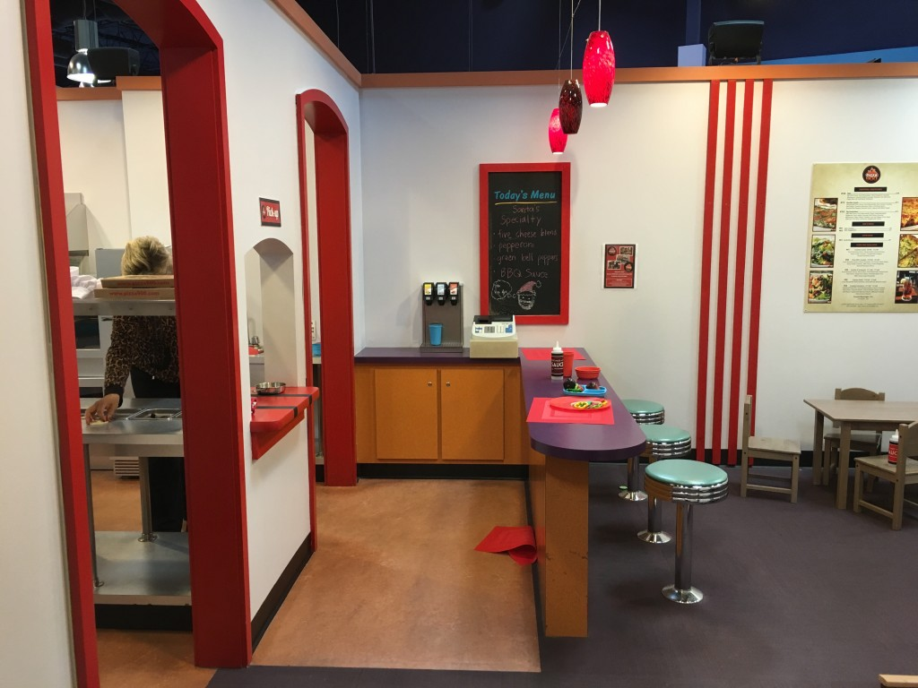 The pizza place at Pretend City Children's Museum