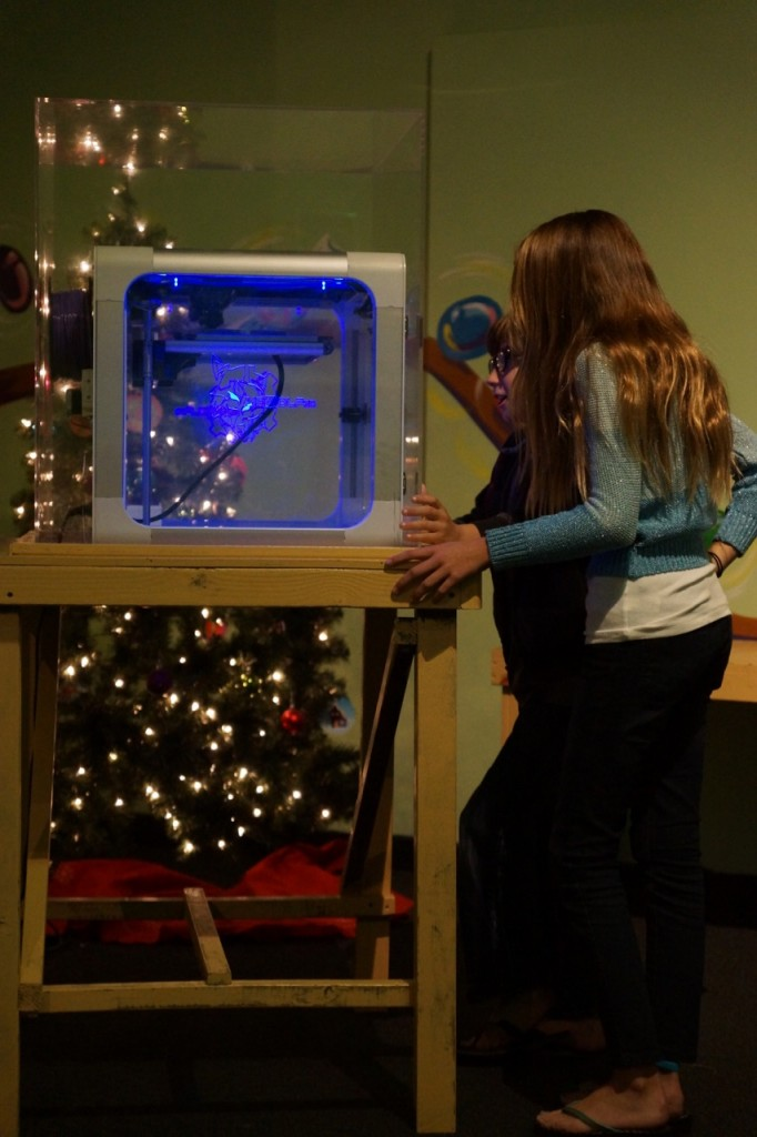 Watching a 3D printer in action
